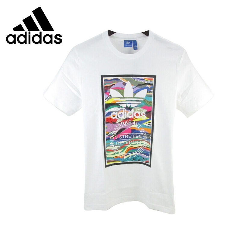 ФОТО Original New Arrival  Adidas Originals Printed Men's T-shirts  short sleeve Sportswear