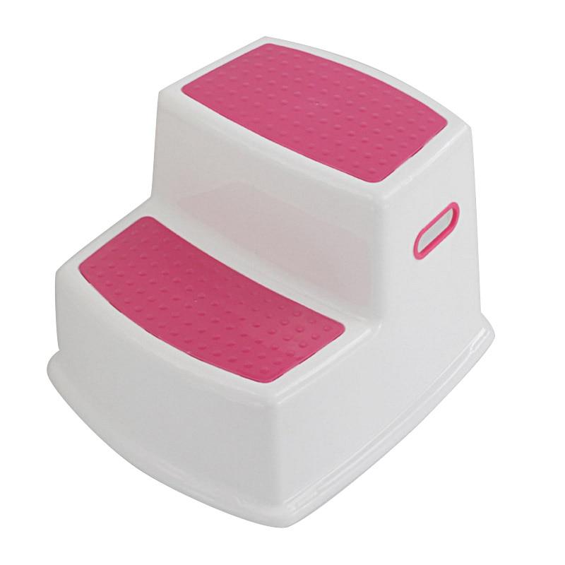 2 Step Stool For Kids Toddler Stool For Toilet Potty Training Slip Bathroom Kitchen DTT88