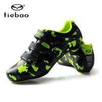 Tiebao Professional Xe Đạp Đường Giày Xe Đạp Thể Thao Racing Nylon-Sợi Thủy Tinh Auto Khóa Xe Đạp Shoes zapatillas ciclismo