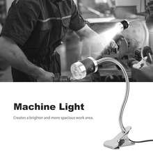 Industrial Lamp LED Machine Working Light Gooseneck Clip/Fixed Base LED Lamp For Sewing Machine Clamp Switch Lamp(China)