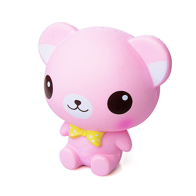 Squeeze Squishy Big Ears Bear 16CM Soft Slow Rising Decompression Toy Funny Novelty Antistress Toy Stress Reliever Slime Kid Toy