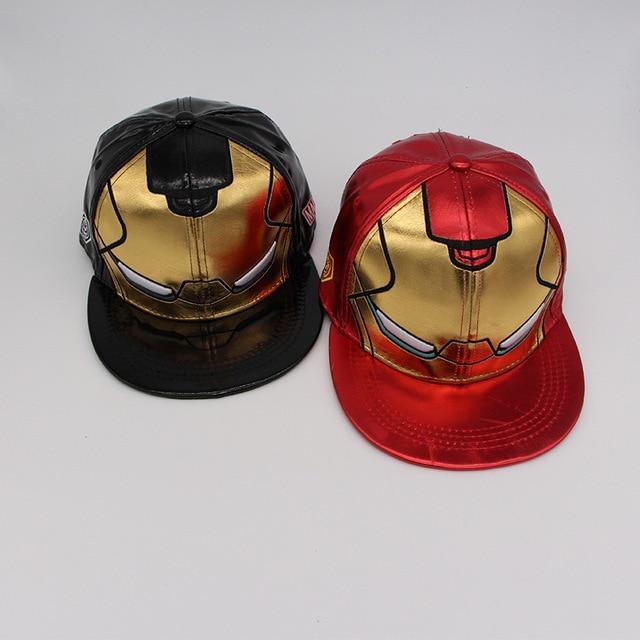 10 unids 3 Colores Gorras de Béisbol Ironman Avengers Iron Man Niños de  Dibujos Animados Para ef698781f2b