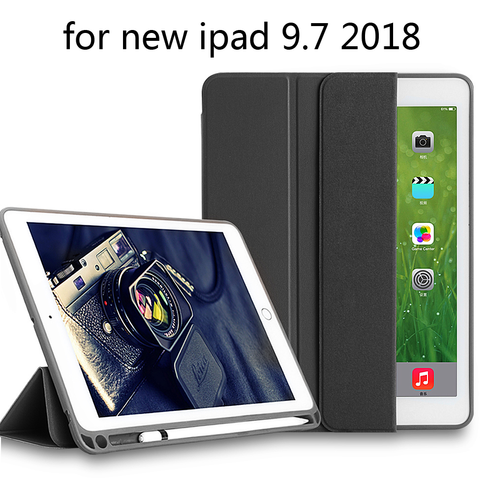 Premium TPU Case for new iPad 9.7 2018 Pouch Bag Cover with Pencil Slot for iPad 9.7 2018 Release