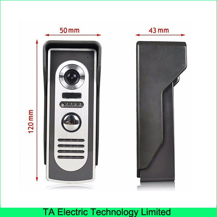 Wired Wall Mounting 813m11 Video Doorphone Home Improvement Speakerphone Intercom System With 7 Inch Monitors Door Bell In From Security
