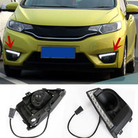 1 Pair Super Bright Running Light DRL Driving Turn Lamp For Honda Fit 2014 2016