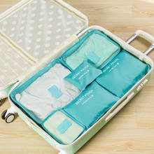 2019 Hot Fashion Style Pakaian Penyimpanan Tahan Air Tas Bagasi Solid Portable Organizer Kantong Packing Cube(China)