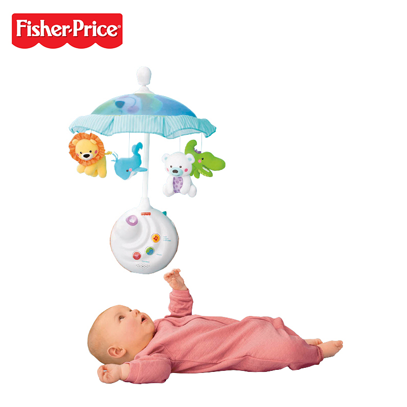 FISHER-PRICE Fisher Baby Musical Animal Bed Bell Mobile
