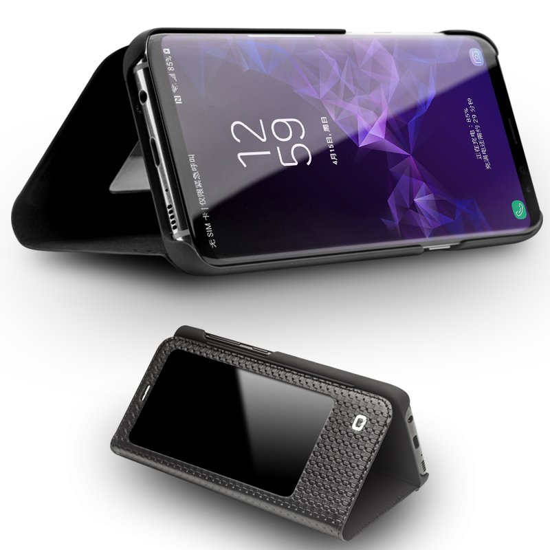 QIALINO Натуральная кожа флип чехол для samsung Galaxy S9 плюс Smart View телефон Обложка для samsung S9 с сна до Функция