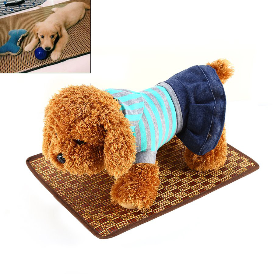 hot cool bamboo dog bed mat pet dog bedding bamboo sheet summer cooling puppy mat s m l size drop shipping new