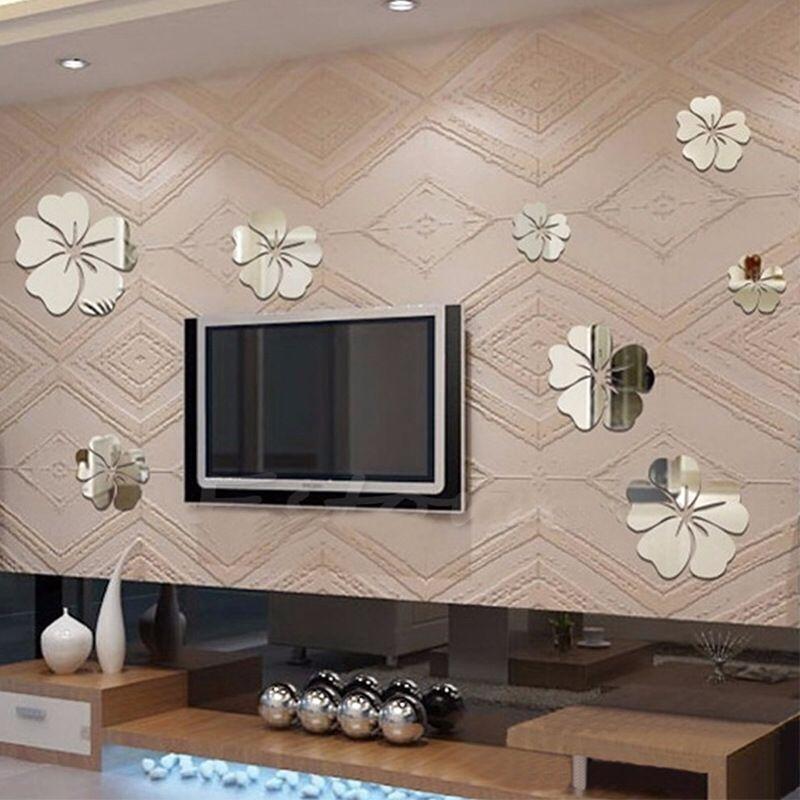 5 pz althea sfondo adesivi decorativi camera da letto soggiorno bagno specchio tv divano sfondo adesivi