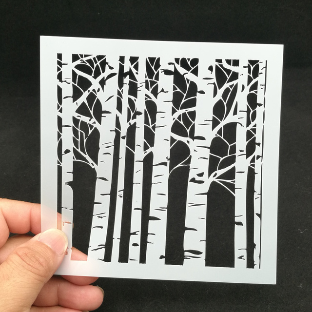 13 Forest Pvc Layering Stencils For Diy Sbook Drawing Color Spray Stencil Painting