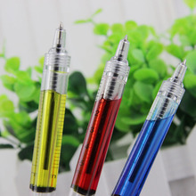 4PCS Novelty Needle Tube Writing Ball Point Syringe Flowing Liquid Black Ink Ballpoint Pen Cute Stationery Office Supplies