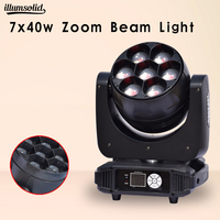 led beam moving head zoom wash disco light 7x40w dmx control for stage