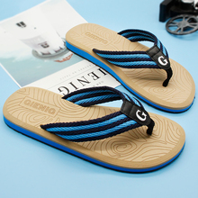 Gienig 2018 new men slippers flip flops men with the summer sandals Beach grain slippers