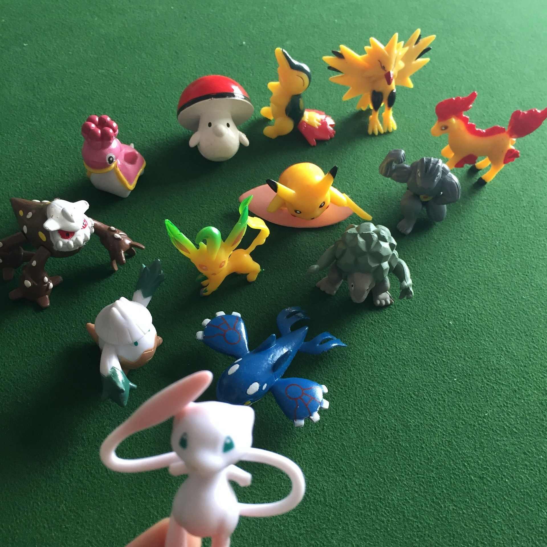 Anime Figura de Ação Brinquedos Magia Bolso Bola Brinquedos Modelo Para Coleção Crianças Brinquedos Crianças Presentes Pikachu Pokeball Monstro Boneca