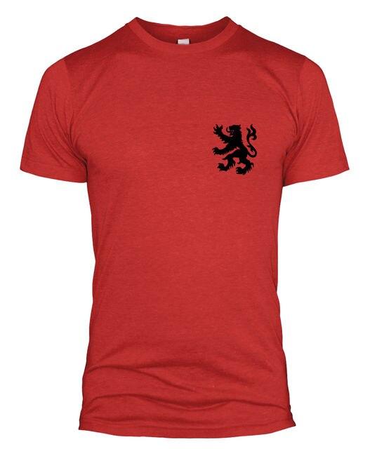 2018 Moda Masculina Cor Sólida Camiseta Bélgica Retro Jogador de Futebol T  Kit Camisa Crachá Homens 47a16eb08d98f
