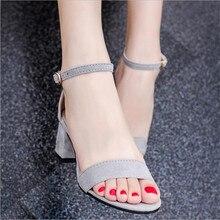 [328] chaussures femme chaussures D'été Nouveau Haute Talons Boucle Épais Avec Sandales D'été Paquet Avec Sexy Mince ouvert-Chaussures à bout. LD-528