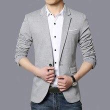 Feitong Блейзер masculino мужской модный стиль костюм на одной пуговице для самостоятельного развития деловой пиджак