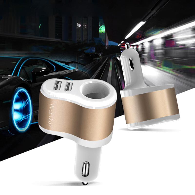 Brorikoy Cargador de coche para iPhone 6 iPad 2 puertos USB Cargador - Accesorios y repuestos para celulares - foto 2