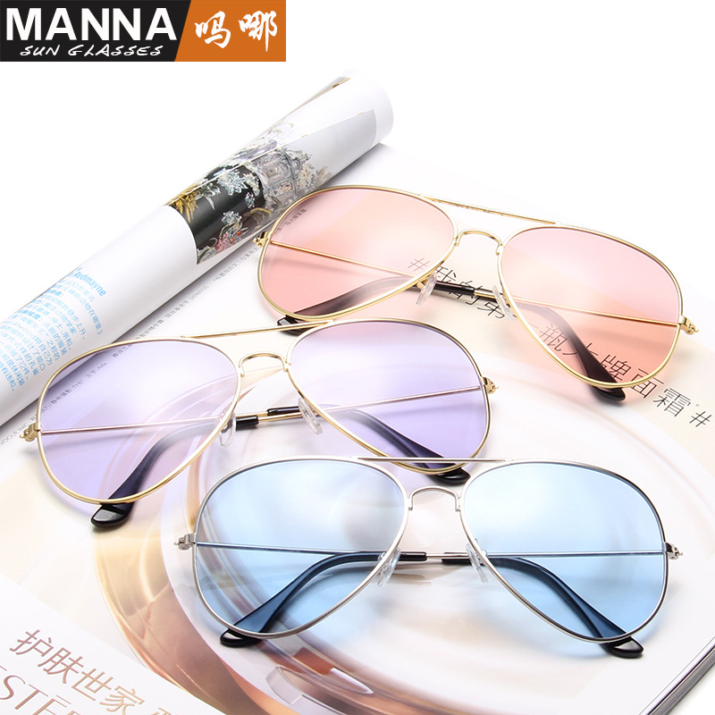 winszenith 89 aviator sunglasses fashion transparent ocean piece large frame clam mirror personality dazzling