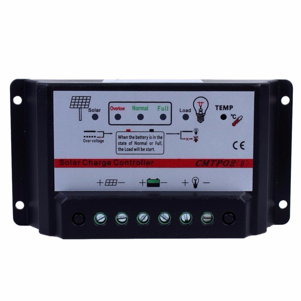 High Tech 30a 12v 24v Auto Switch Mppt Solar Panel Battery