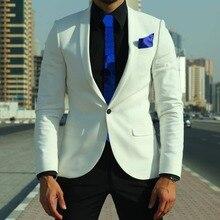 White 1Button Tuxedo Coat Slim Fit Mens Suit 38r 40r 42r 44r 46r 46l 48l Custom