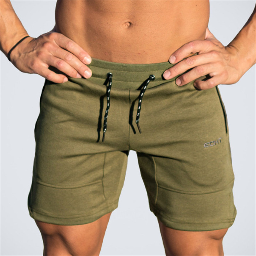 2018 Mens Stitching Letters Embroidery Shorts Men High Quality Jogger Sportswear Fashion Men Fitness Bodybuilding Mens Shorts