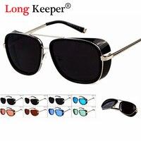 2015 New Style Iron Men Sunglasses Retro Steampunk Sunglasses Men Vintage Brand Designer Oculos De Sol