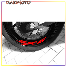 for KAWASAKI ZX-6 ZX6 Motorcycle Stickers Wheel Sticker Inner Rim Decal Reflective Stickers Stripes for aprilia mv agusta yamaha kawasaki honda bmw 848 1098 gsxr wheel sticker decal reflective rim motorcycle suitable for 17 inch