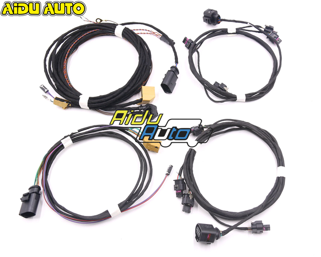Parking Front and Rear 8K PDC OPS  Harness cable Wire For VW Golf 5 6 Passat B6 Touran JETTA MK5 Mk6 Skoda Octavia Polo 6R