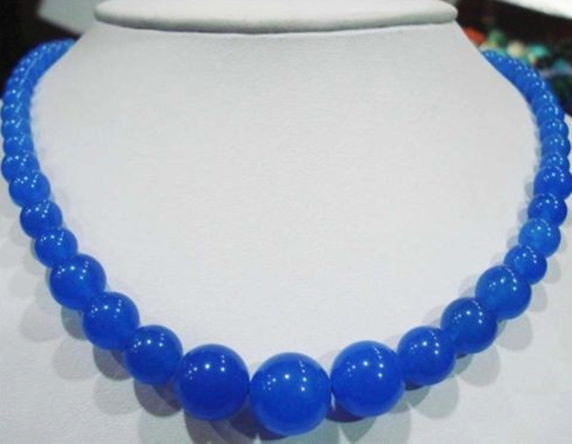 Blaue chalcedon kette
