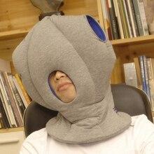 Black/Blue/Red Generic Soft Ostrich Rest Pillows Headrest Sleeping Helper Decorative Pillows Ostrich Sleep By Generic Colorful цены