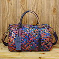 Free shipping Sheepskin handmade woven bag handbag cross-body multicolour women's handbag colorful
