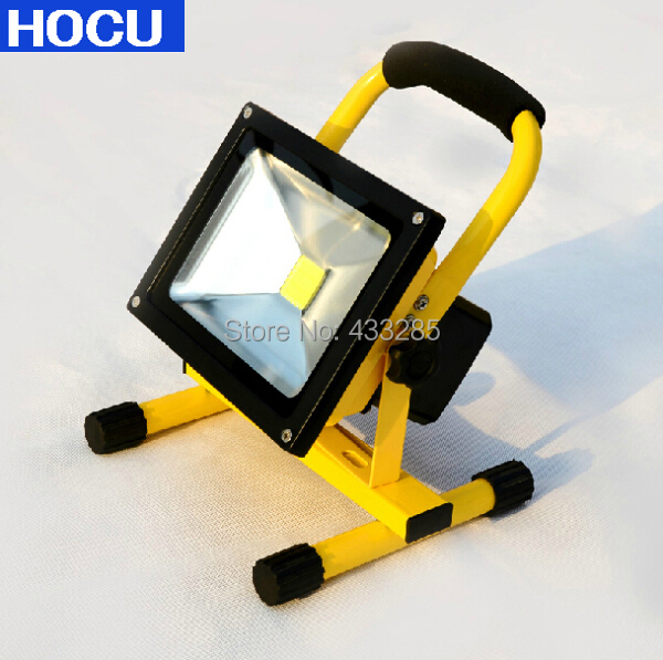 10w 20w 30w Charging Led Flood Light Rechargeable Chargeable Charge Battery Floodlight Outdoor Lighting Ip65 Free