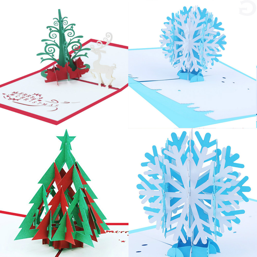 Christmas Tree Cards Designs.Us 1 61 29 Off 3d Pop Up Christmas Tree Card Handmade Greeting Card For Gift Christmas Cards Festive Party Supplies In Cards Invitations From Home