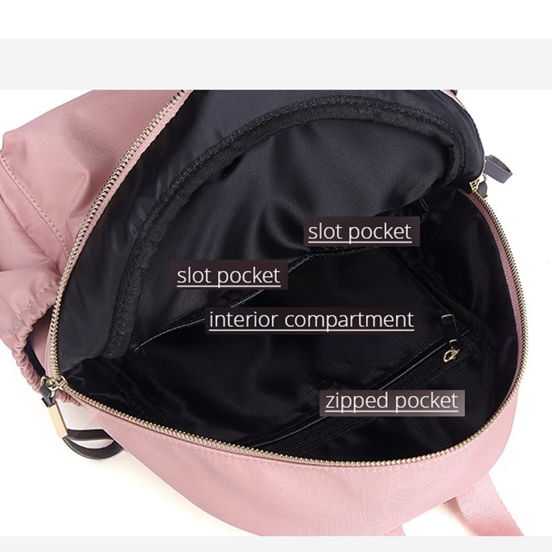 POMELOS Women Backpack 2019 New Arrival Designer Backpack For Women Rain poof Fabric Back Pack Designer Travel Backpack Rucksack in Backpacks from Luggage Bags