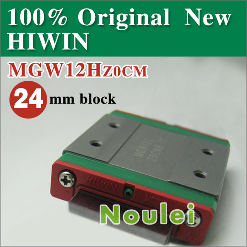 mini CNC parts MGW12H HIWIN linear guide rail block miniatura MGW12 / MGW free shipping to argentina 2 pcs hgr25 3000mm and hgw25c 4pcs hiwin from taiwan linear guide rail