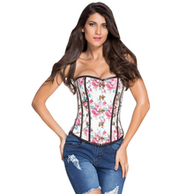 FGirl Sexy Lingerie Women Corset Floral Thumbnail Stud Military Inspired Steampunk Halloween Gothic Corsets FG10803
