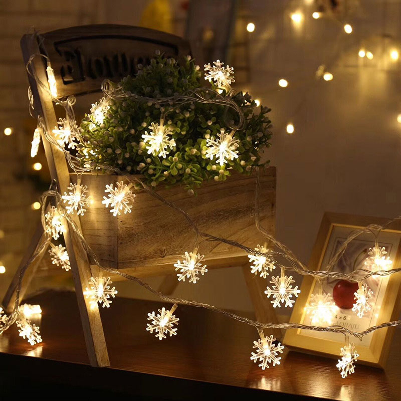 Top 40 Christmas Bedroom Decorations: Christmas Decorations For Home Bedroom Snowflake Led
