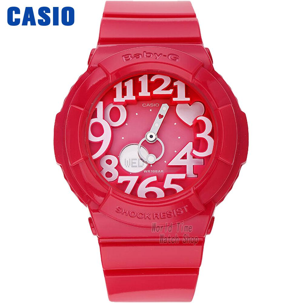 Casio watch Fashion trend double explicit student electronic watch ladies watch BGA-130-1B BGA-130-2B BGA-130-4B BGA-130TR-7B  casio watch sweet fashion sports female student watch lx 500h 1b 1e 4e 7b2