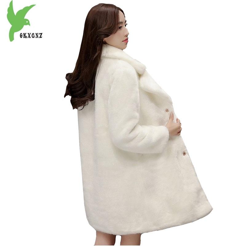 De Gray Épais Taille Plus Moyen Mode Solide Hiver Longueur Vison L'eau Nouvelle La Survêtement Femmes Manteaux Couleur Vestes Okxgnz1038 Fourrure Imitation white wnYAqq4F