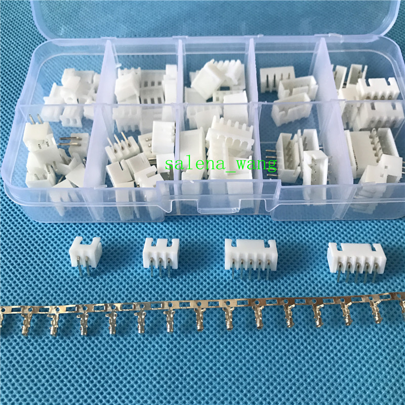 40sets/box XH 2.5 2p 3p 4 5 pin 2.54mm Right angle Pitch Terminal / Housing / Pin Header Connector Wire Connectors Adaptor