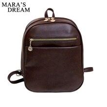 Mara de Rêve 2016 femmes designer marque sacs à dos vintage sac à bandoulière en cuir rétro petite dame cartable mochila mignon sacs