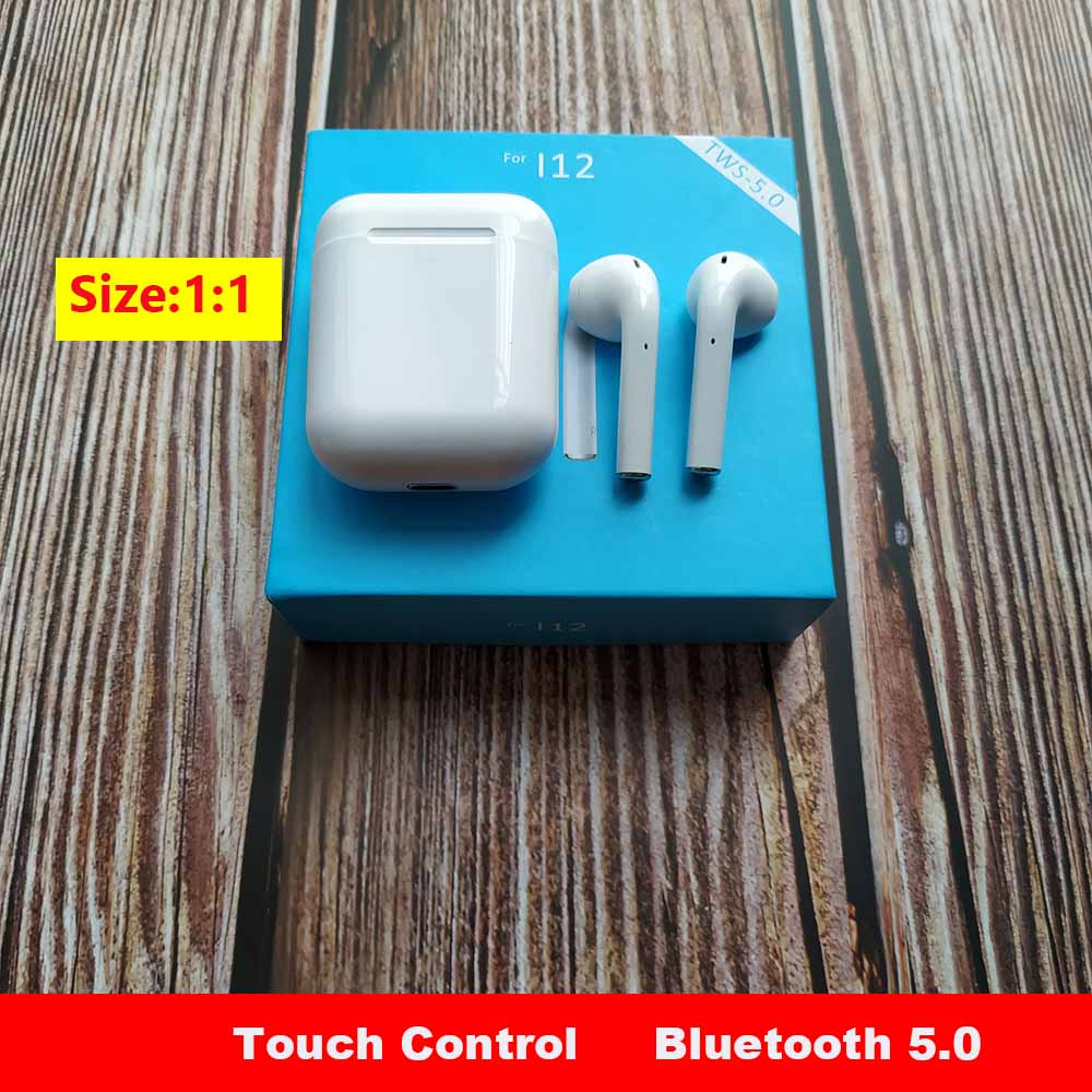 i12 tws Touch Wireless earphones 1:1 Mini Bluetooth Touch Earphones Earbuds With Charging Box for iPhone