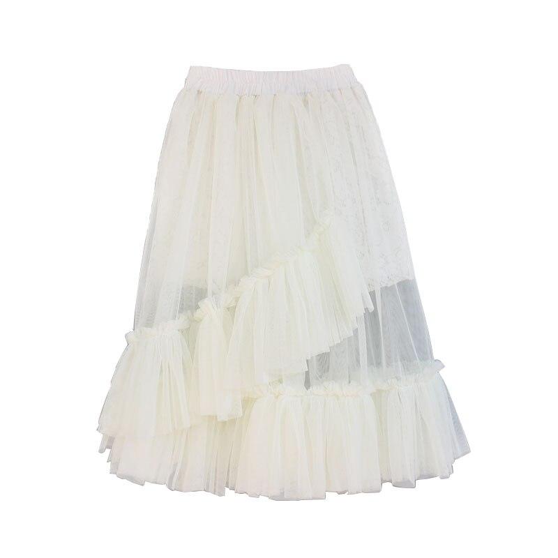 New Autumn Girls Kids Clothes Lace Ruffle Skirts Girl Long Tutu Skirt with Cotton Lining Children Pettiskirt kawaii Tutus 0 14T