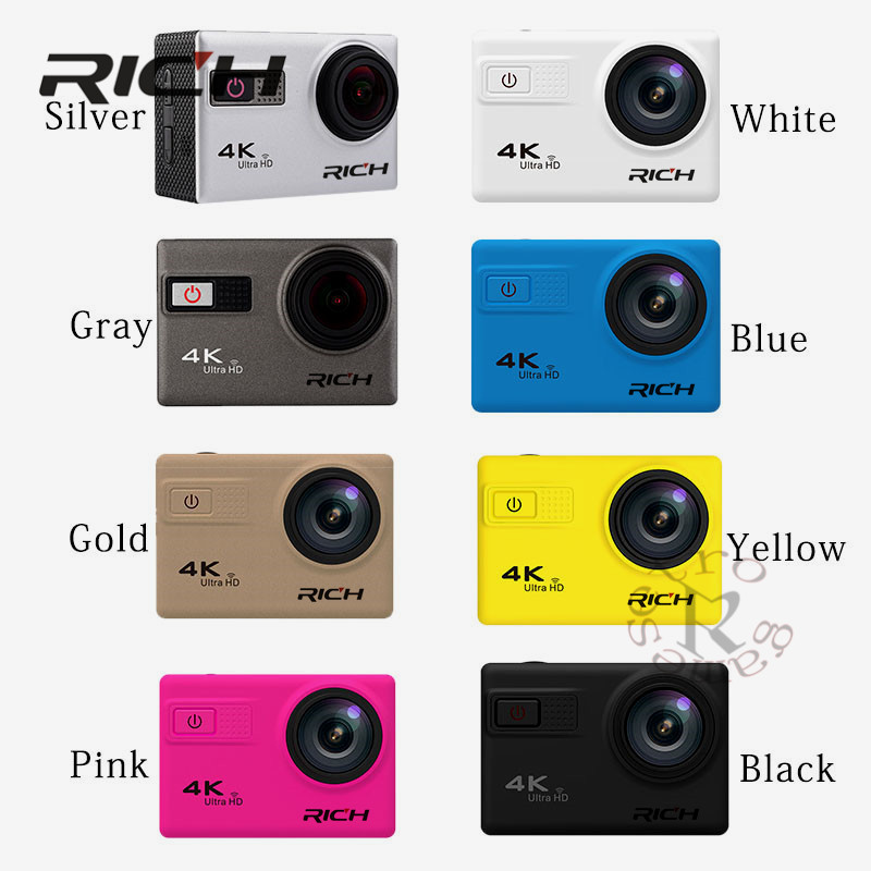 F68B Action Camera 4K Wifi 2.0LCD Action Cam UHD Waterproof Sport Outdoor Video Camera 12MP 170 Degree Mini DV Camcorder 4k 30fps action camera wifi 1080p uhd 2 0 lcd screen 30m waterproof diving 170 degree sport action camera dv camera