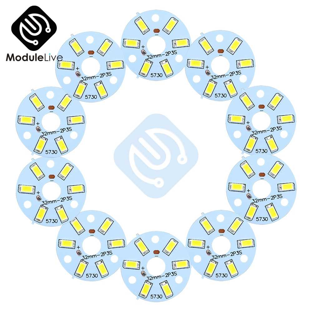 10PCS 3W 5730 White LED Emitting Diode SMD Highlight Lamp Panel LED Board