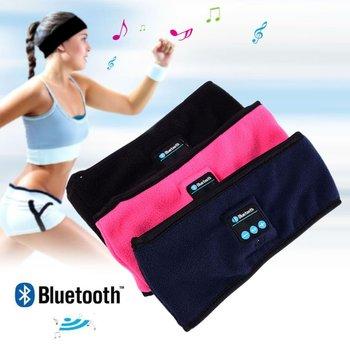 2019 New Sports Smart Wireless Bluetooth Music Wide Anti-sweat Headband Headphones Cap Warm
