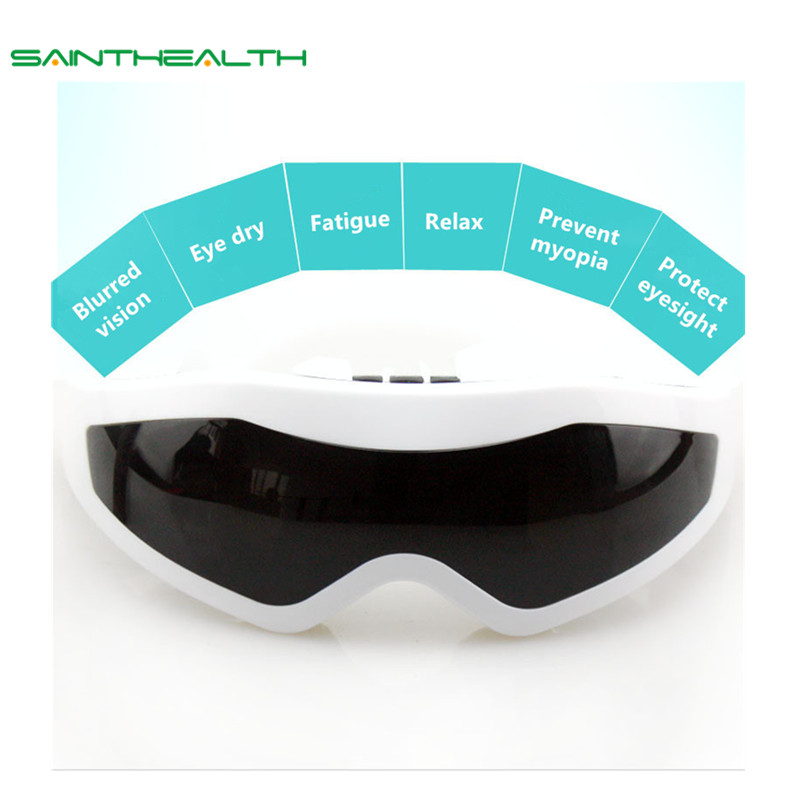 Electric eye massager vibration Eye brain massager sinus forehead magnetic eye relax health care massager product eye-massager 2 colors electric eye massager mask migraine eye vision improvement forehead eye care glasses massager health care tools 30