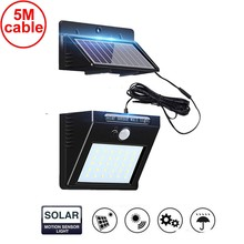 30 led 500lm solar light split mount pIR motion 3 sensor LED Solar Wall La IP street wall indoor lamp bulb strings for patio new